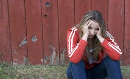 сиротливая женщина Стоковая Фотография RF