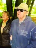 Ανώτερο ζεύγος στο πάρκο Στοκ Εικόνες