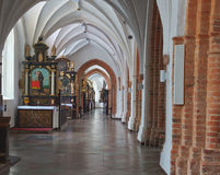格但斯克奥利瓦波兰大教堂 库存图片