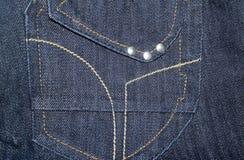 牛仔布织品 免版税库存照片