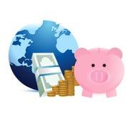 世界储款 库存图片
