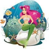 美人鱼世界 图库摄影