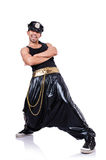 宽裤子的斥责舞蹈家 免版税库存图片