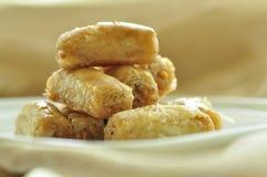 阿拉伯甜果仁蜜酥饼 库存照片