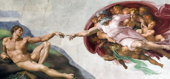 Творение Микеланджело Стоковые Фото