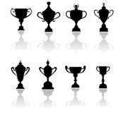 体育战利品、奖和杯子 免版税库存图片
