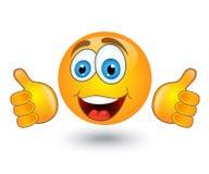 Κίτρινα στρογγυλά χαμόγελα συγκίνησης Στοκ φωτογραφία με δικαίωμα ελεύθερης χρήσης