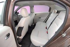 后方汽车座位 免版税库存照片