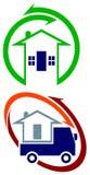 Установленные дизайны логотипа движенцов Стоковое Фото