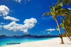 热带海滩,菲律宾 免版税库存照片