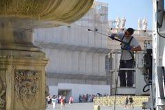 圣彼得广场在梵蒂冈 免版税库存图片