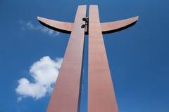 千年十字架。 免版税库存图片