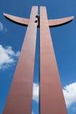 千年十字架。 库存照片