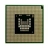 微处理器。关闭电子微芯片 库存照片