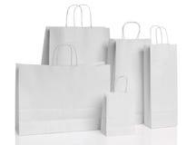 Διάφορες τσάντες αγορών εγγράφου που απομονώνονται Στοκ Εικόνες