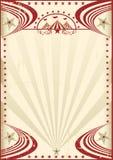 Κόκκινη εκλεκτής ποιότητας αφίσα τσίρκων Στοκ Εικόνα