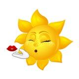 做空气亲吻的美丽的太阳 免版税库存照片