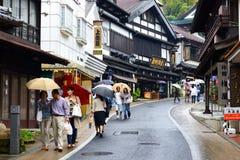 成田传统购物街道 免版税图库摄影