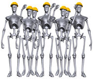 Ρομποτικό εργατικό δυναμικό Στοκ Φωτογραφία