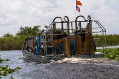 佛罗里达沼泽地汽船 库存图片
