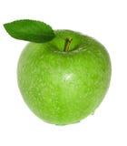 新鲜和湿绿色苹果 免版税图库摄影
