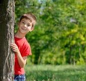逗人喜爱的男孩画象  免版税库存照片