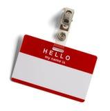 Здравствуйте! мое имя бирка Стоковые Фотографии RF