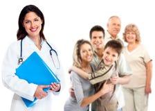 家庭医生妇女。医疗保健。 免版税库存图片