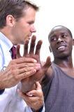 Ушиб запястья руки Стоковое фото RF