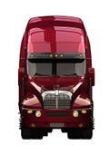 Ημι μπροστινή άποψη φορτηγών Στοκ Εικόνες