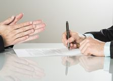 企业合同 免版税库存照片