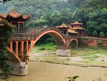 在乐山附近的桥梁 库存照片