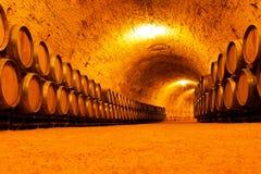 古色古香的葡萄酒库 库存图片