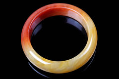 Китайский браслет нефрита Стоковое Фото