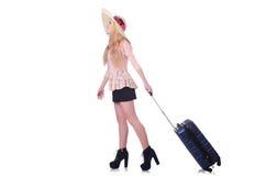 Ταξιδιώτης νέων κοριτσιών Στοκ Εικόνα