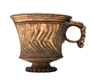 被隔绝的古老中国酒杯子。 库存图片