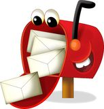 动画片邮箱-孩子的例证 免版税库存图片