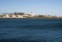 撒丁岛。卡利亚里全景 免版税库存图片