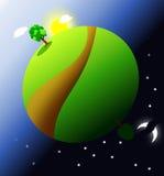 Глобус ландшафта Стоковые Изображения RF