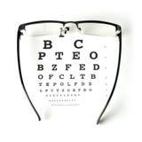 视力检查表测试 免版税库存照片