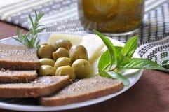 地中海饮食 库存照片