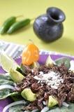 墨西哥蚂蚱沙拉 免版税库存照片