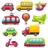 Σύνολο μεταφορών κινούμενων σχεδίων Στοκ Εικόνες