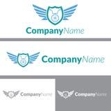 Дизайн логотипа отряда велосипеда Стоковые Изображения