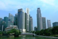 Εικονική παράσταση πόλης της Σιγκαπούρης Στοκ εικόνα με δικαίωμα ελεύθερης χρήσης