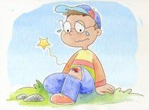 少许哭泣的男孩 免版税图库摄影