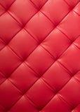 红色皮革纹理 免版税库存照片