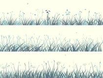 抽象草地早熟禾横幅。 免版税库存图片