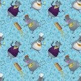 Безшовный, крыса художник, кашевар и певица Стоковое Изображение
