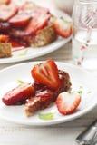 草莓馅饼 库存图片